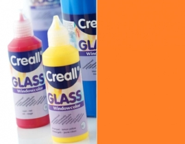 CE301800/0512- Creall Glass - glasstickerverf - window color - 80ML oranje/rood