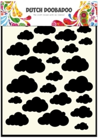 CE185071/5029- Dutch Doobadoo Dutch mask art stencil clouds A5