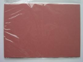 08096- 5 x luxe dubbele kaarten gerild standaard formaat oud roze 10.5x14.8cm SPECIALE AANBIEDING
