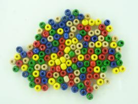 KN2106014998- 155 stuks houten kralen van 4mm kleurenmix