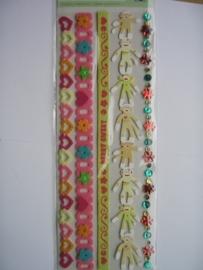 5564- K&Co 3D stickers chipboard berry sweet 30x12cm