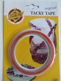 SLK.142- 10 meter Tacky Tape dubbelzijdig klevend van 3mm breed OPRUIMING