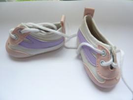 VZ.314- 1 paar poppen sportschoenen van 7cm wit OPRUIMING