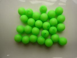 3753- 25 stuks glaskralen van 8mm neon/fluor groen