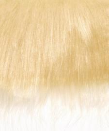 8411 913- lap van 20x35cm pluche / imitatie bont langharig blond