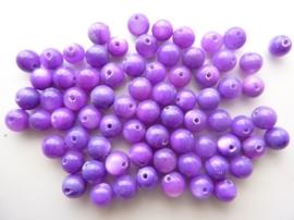 661- ca. 70 stuks schelpenkralen van 5mm paars