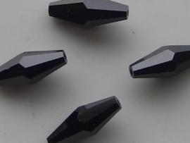 109301/0030- 4 x ovale swarovski kralen 15x6mm jet blade