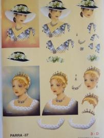 kn/738- A4 3D knipvel Parra camarca no.37 dames