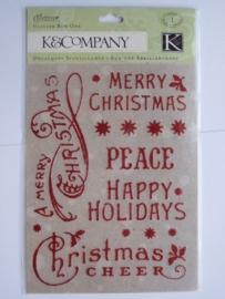 5674- K&Co glitter stickers kerst 11.5x15cm