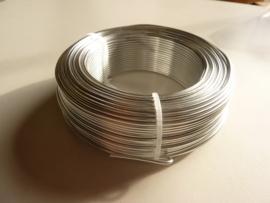55 meter aluminiumdraad (Wire&Wire draad) van 2mm dik zilverkleur - extra goedkoop