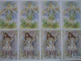 kn/121- A4 knipvel AANBIEDING fairy poppets 12