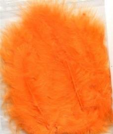 CE800804/2810- 15 stuks Marabou veren oranje van 7 tot 14cm