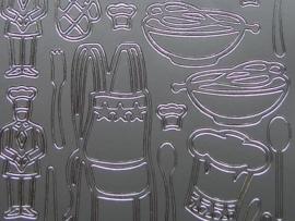 472- keukenattributen zilver