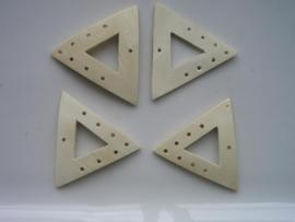4 x verdelers van 1 naar 7 rijen 35mm driehoek van kokos