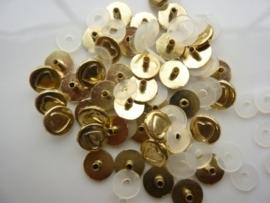 SLK206.D- 40 stuks snaps eyelets hartjes van 9mm goud OPRUIMING