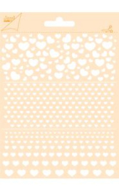 6002/0852 - Joy! crafts embossing achtergrondstencil poly-besa - hartjes