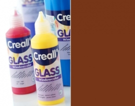 CE301800/0558- Creall Glass - glasstickerverf - window color - 80ML donkerbruin