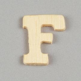 006887/1252- 2cm houten letter F