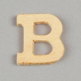 006887/1210- 2cm houten letter B