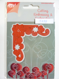 0002399- Joy Crafts stencil hoek 7.5x7.5cm - OPRUIMING