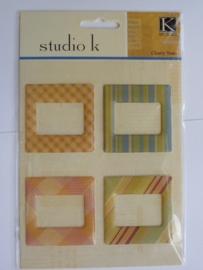 5673- K&Co epoxy lijstjes 4 stuks van 5x5cm