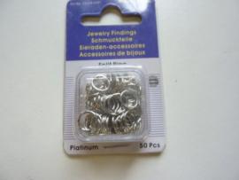 12024-0051- 50 stuks enkele ringetjes van 8mm staalkleur