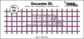 CE115634/2506- Crealies decorette XL - no.6 vierkant 45x135mm