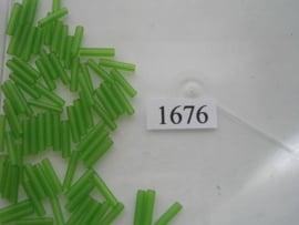 1676- 11.5mm glazen stiftjes groen half mat 15 gr