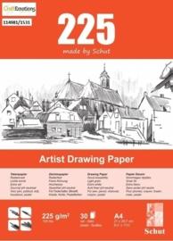 CE114981/1531- 30 vel Schut artist drawing paper 225grams A4 tekenpapier