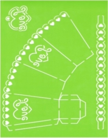 JOY6002/0706- Joy! crafts A4 formaat template doosje met opdruk `love`