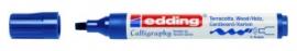 CE391455/0017- Edding-1455 kalligrafie marker flexibel punt 1-5mm staalblauw