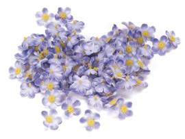 7611 180- 108 stuks decoratie bloemetjes lila van 1cm