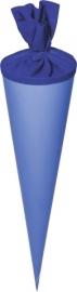 KN204870053- 5 stuks XXL puntzakken van karton met viltsluiting 70cm blauw