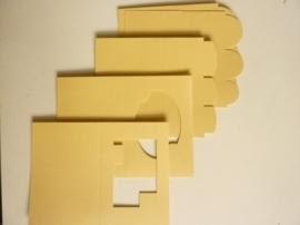 007961B- 12 stuks dubbele kaarten beige/geel OPRUIMING
