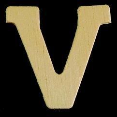 8735 629- 4cm houten letter V