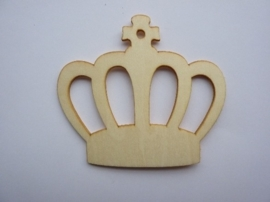 005998.B- houten ornament kroon van 2mm dik en ca. 7cm breed -006888/2407