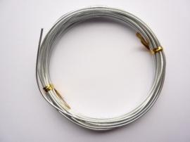 10 meter aluminiumdraad (Wire&Wire draad) van 1.5 mm dik zilverkleur