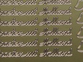 st 380- groeten uit holland goud 10x20cm