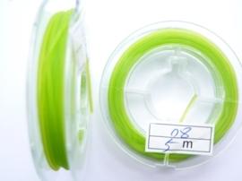 elastisch nylondraad 0.8mm lichtgroen 5 meter - AANBIEDING EXTRA LAGE PRIJS!