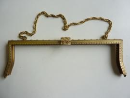 43 - tasbeugel met ketting 30 cm bronskleur