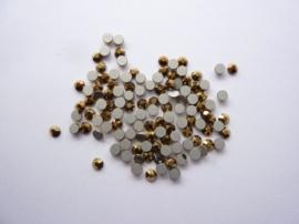 000603- ruim 100 kristalsteentjes SS12 3.5mm aurun gold - SUPERLAGE PRIJS!