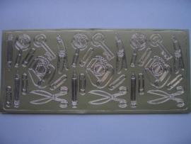 st387- kantoorartikelen goud 10x20cm