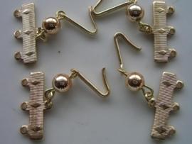 4 x verdelers van 1 naar 3 rijen goud 04-191