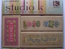 319- opruiming stempelset Studio K 1 van 3.5x8cm & 1 van 6.5x4cm