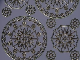 st746- stickervel met bloem ornamenten licht lila 10x20cm