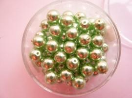 50 x ronde glasparels in een doosje 6mm mintgroen - 2219 639