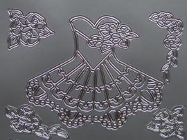 348- jurkjes zilver 10x20cm