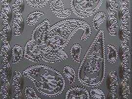 st 361- randje met ornamenten zilver 10x20cm