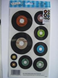 5310- muziekplaten Rub-on transfer