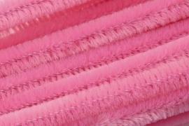 8476 225- 10 stuks chenille draad van 50cm lang en 8mm breed roze
